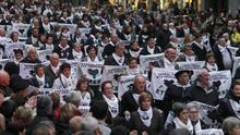 Manifestación de familiares de presos de ETA.