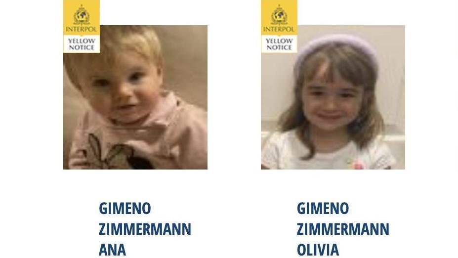 Anna y Olivia, incluidas en la web de la Interpol
