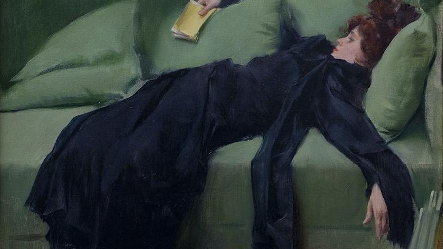 Cuadro 'Joven decadente', de Ramón Casas