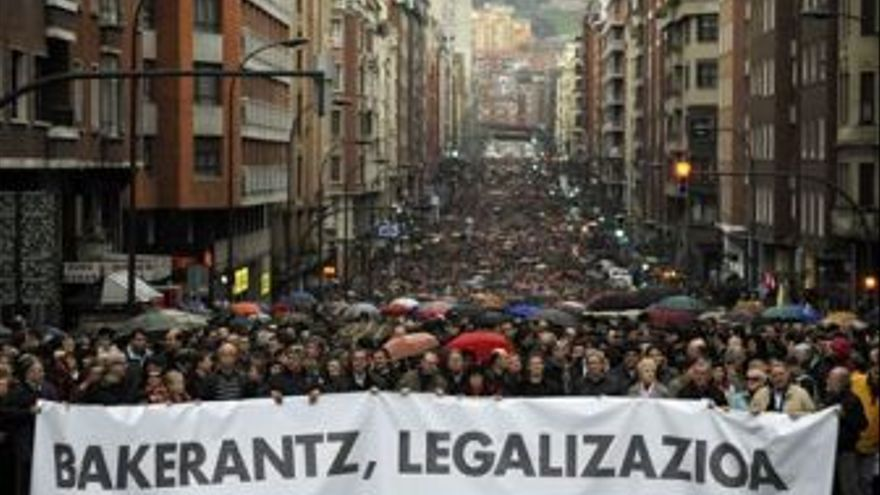Marcha en Bilbao. (EUROPA PRESS)