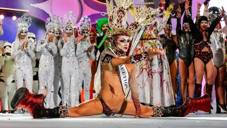 Drag Sethlas reaparece vestido de la Virgen en presentación del Carnaval 2018