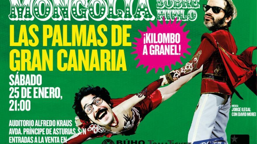 Cartel de 'Mongolia sobre hielo' para su actuación en Las Palmas de Gran Canaria.