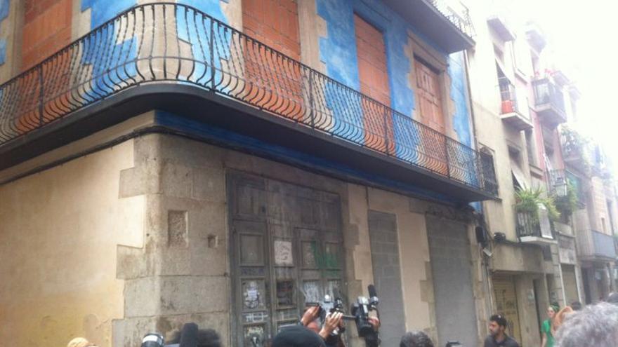 Edificio ocupado en Barcelona situado en la calle Sant Pere / Fotografía: João França