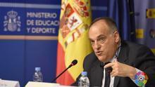 """El presidente de la Liga de fútbol, Javier Tebas, está dispuesto a votar a Vox: """"España necesitaba una alternativa así"""""""