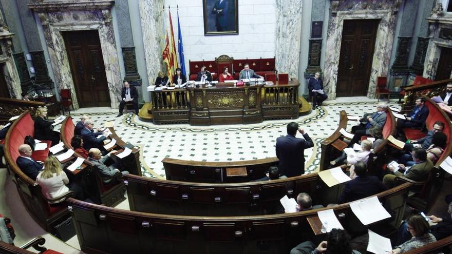 Imagen de un pleno del Ayuntamiento de València