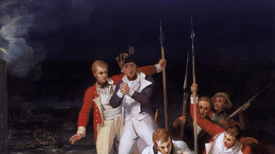 Cuadro que representa a Horacio Nelson, herido en la batalla de Santa Cruz de Tenerife