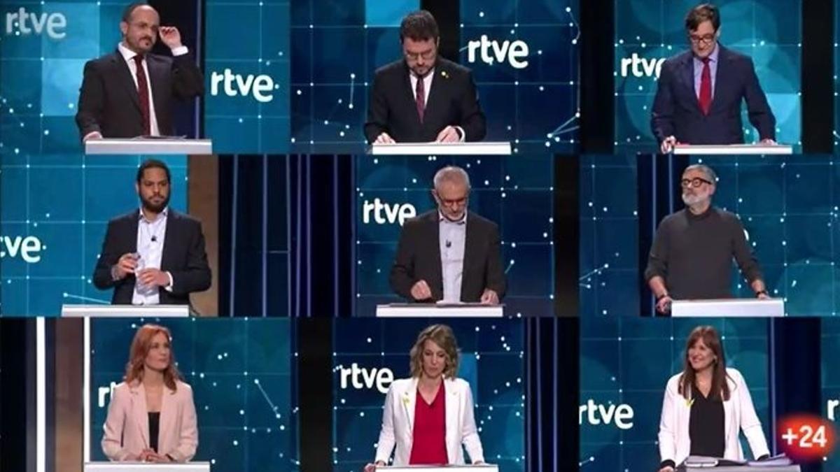Debate de RTVE para las elecciones del 14 de febrero
