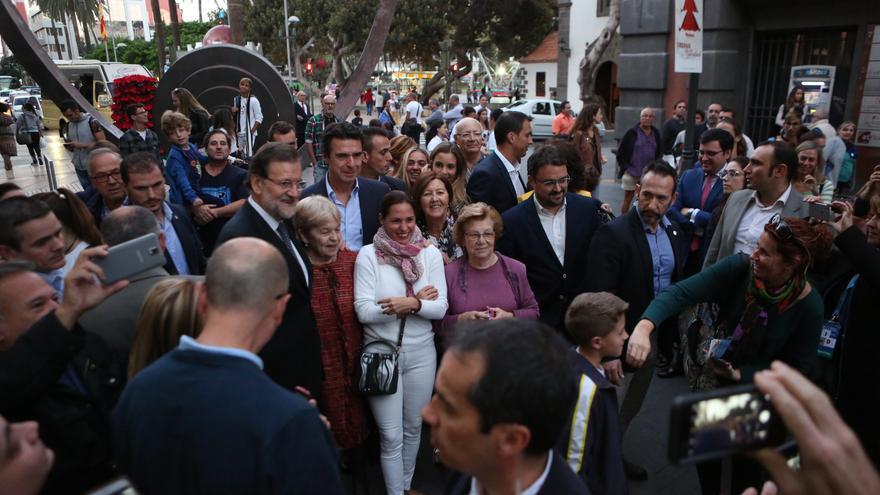 Mariano Rajoy en Triana (ALEJANDRO RAMOS)