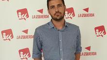 Eduardo Garzón en la sede de IUC en Santa Cruz de La Palma.