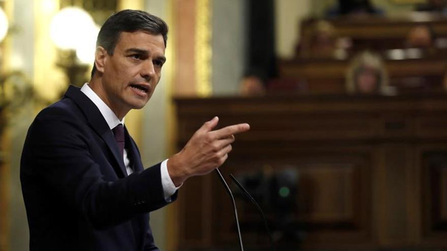 Sánchez, durante su comparecencia en el Congreso de los Diputados.