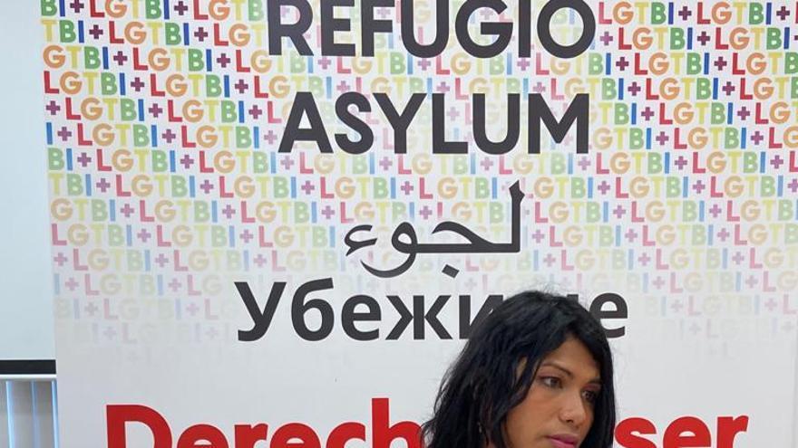 Jeisy, una mujer trans de 28 años que fue acogida en el piso de KifKif