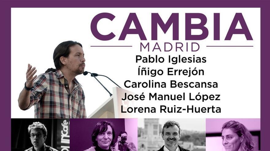 Iglesias, Errejón y Bescansa cerrarán la campaña junto a José Manuel López en Madrid Río
