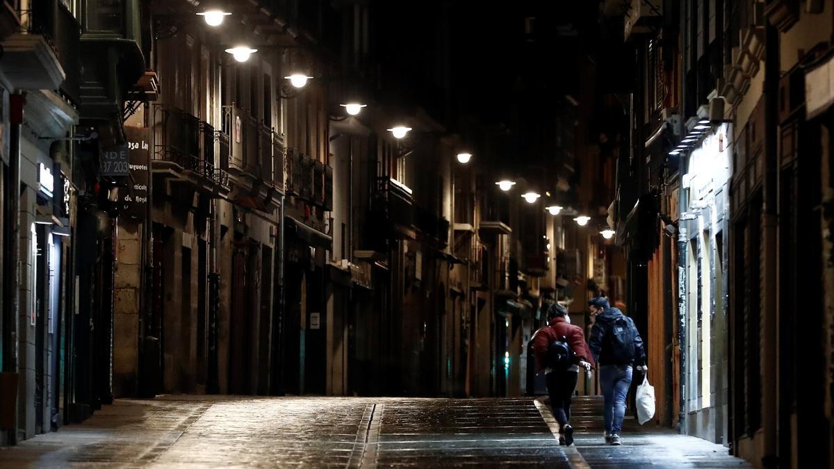 Vista de la Calle Javier con la Estafeta en Pamplona. EFE/Jesús Diges/Archivo