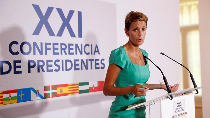 MaríaChivite, presidenta de Navarra. EFE/Chema Moya