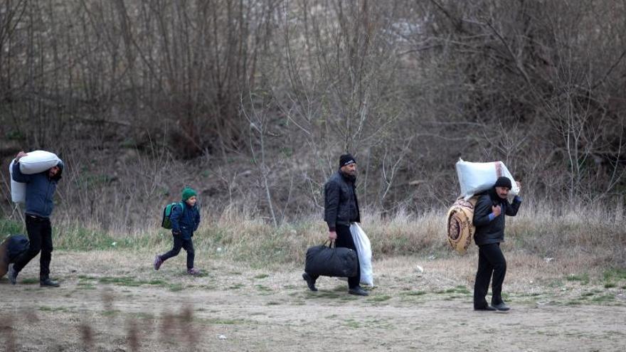 Refugiados sirios camino de Grecia