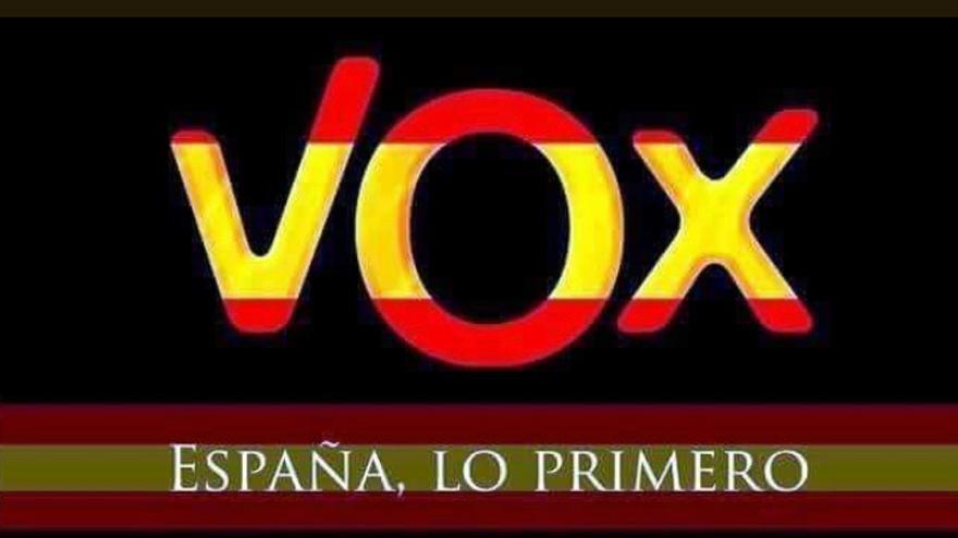 Montaje de VOX con la bandera española
