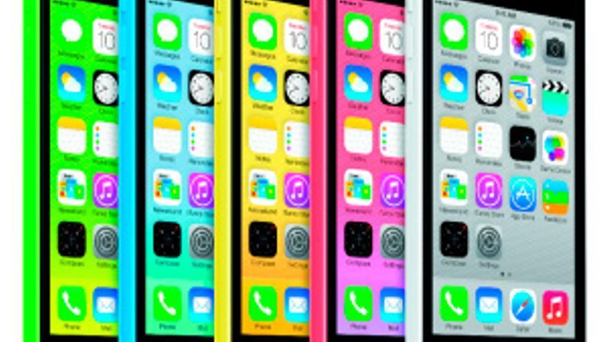 Gama de colores del iPhone 5C (Foto: Apple)