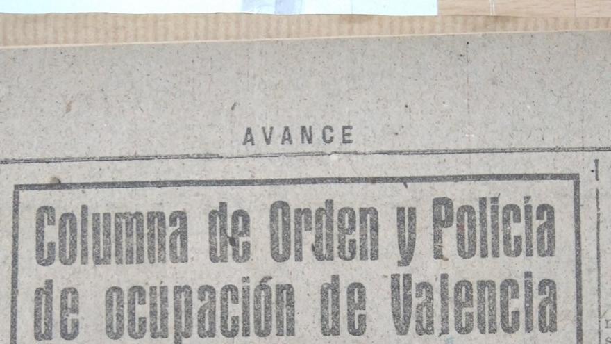 Anuncio del coronel Antonio Aymat en el diario franquista 'Avance'
