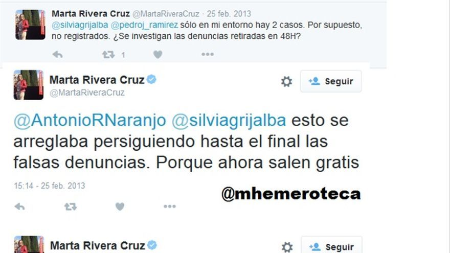 Marta Rivera de la Cruz denuncias falsas