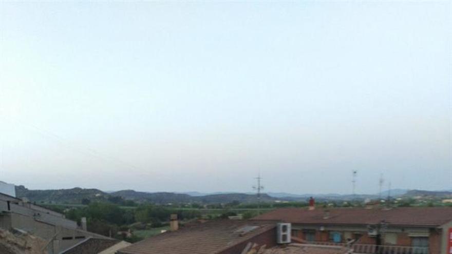Un espectacular desprendimiento se lleva varias casas por delante en Alcañiz