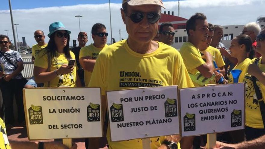 Protesta por la situación del plátano celebrada el año pasado en Santa Cruz de La Palma