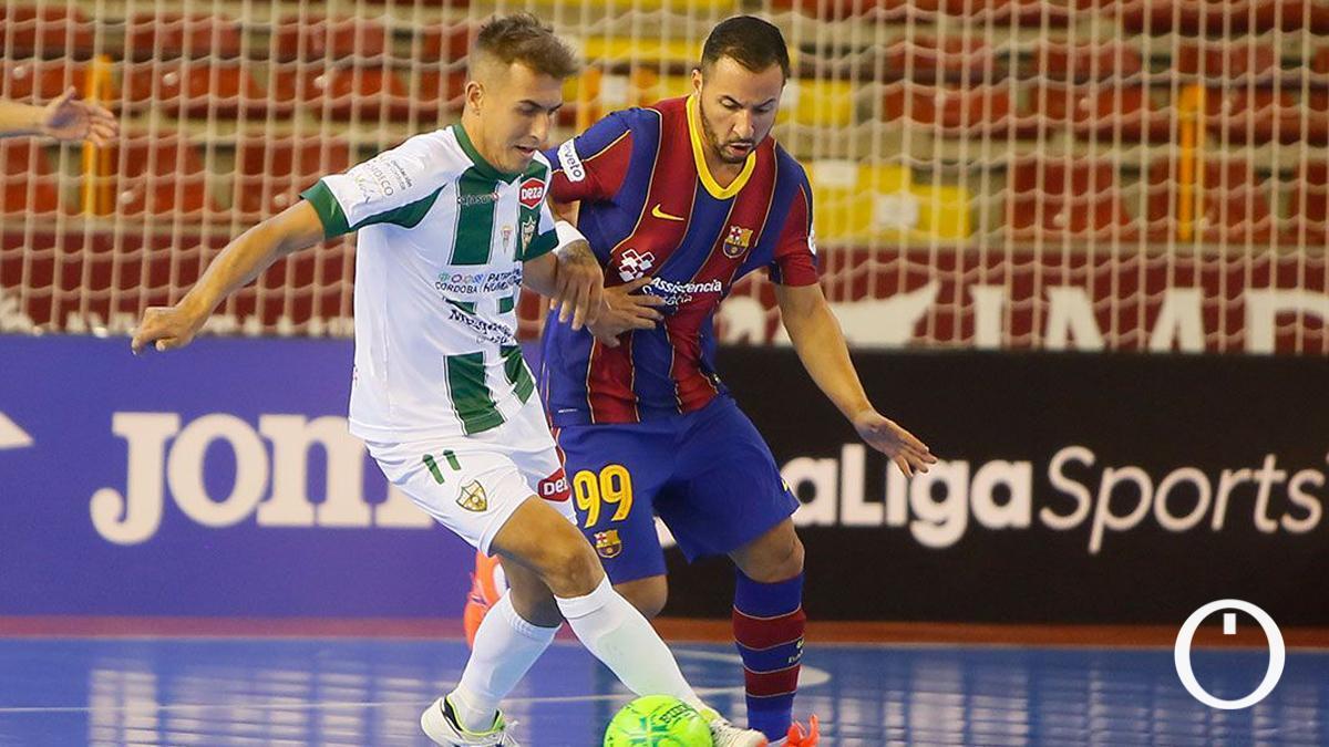 Koseky, ante el Barça en Vista Alegre.