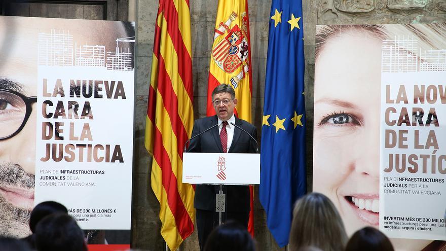 Ximo Puig ha presentado el plan de inversiones en la justicia