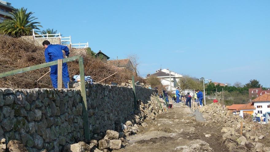 Trabajadores de la construcción, en una imagen de archivo