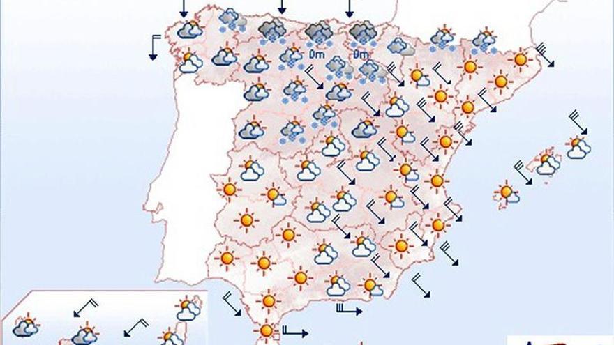 Mañana se mantienen el frío, la nieve y el viento