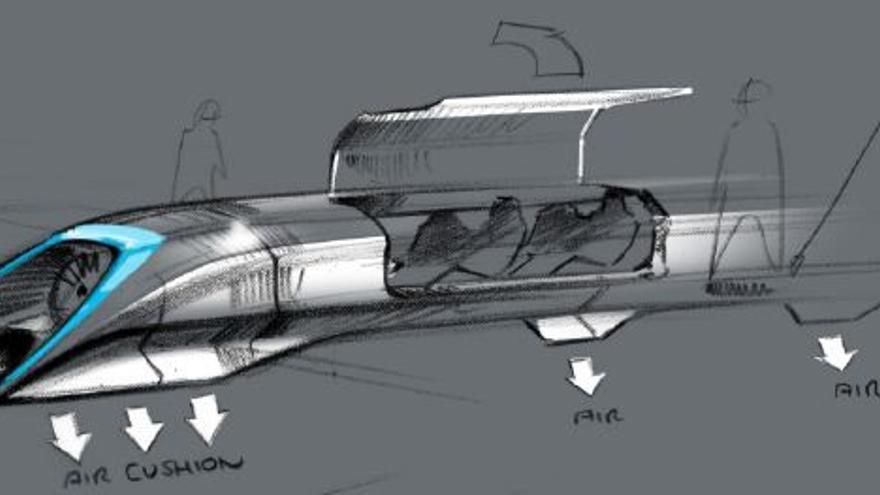 Boceto del diseño de Hyperloop