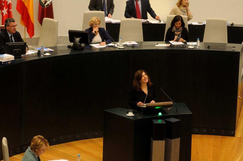 Celia Mayer en el pleno en el que se ha aprobado la medida | Foto: Ayuntamiento Madrid