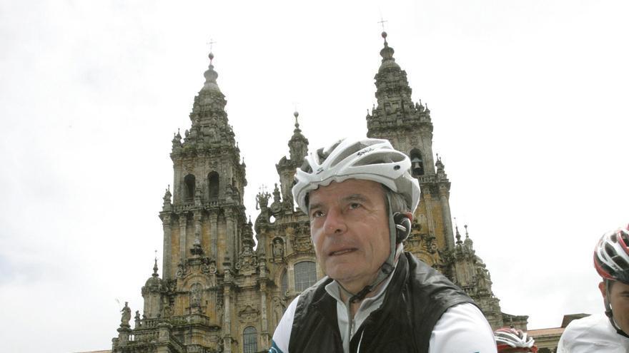 Antonio Catalá, fundador de AC Hoteles en la ruta Xacobea de 2010.