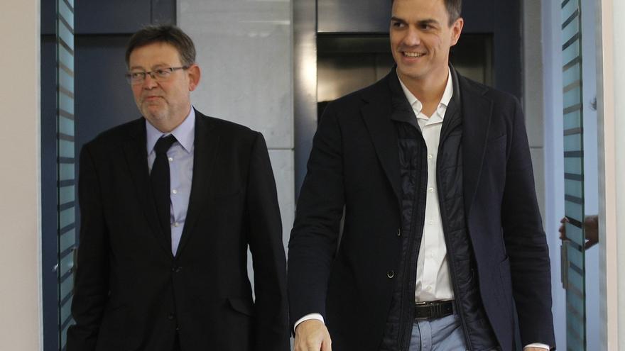 """Pedro Sánchez alaba la """"iniciativa liderada"""" por Puig para """"reconstruir las relaciones con Cataluña"""""""