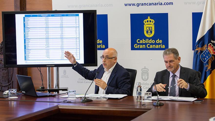 El presidente del Cabildo presenta los desequilibrios del Gobierno canario con respecto a Gran Canaria en sus cuentas de 2018.