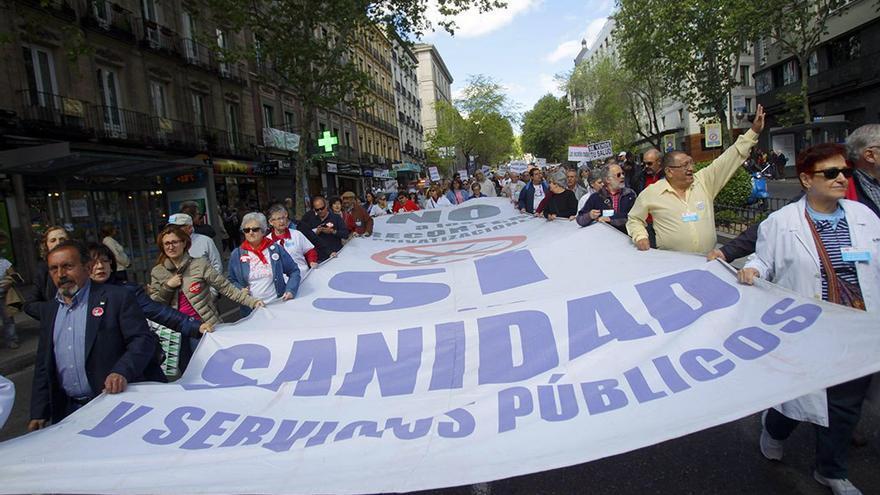 Protesta por recortes en Sanidad. (EFE)