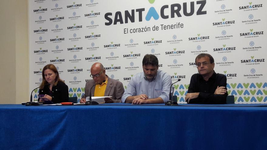 Participantes en la rueda de prensa de este lunes, en el Ayuntamiento capitalino