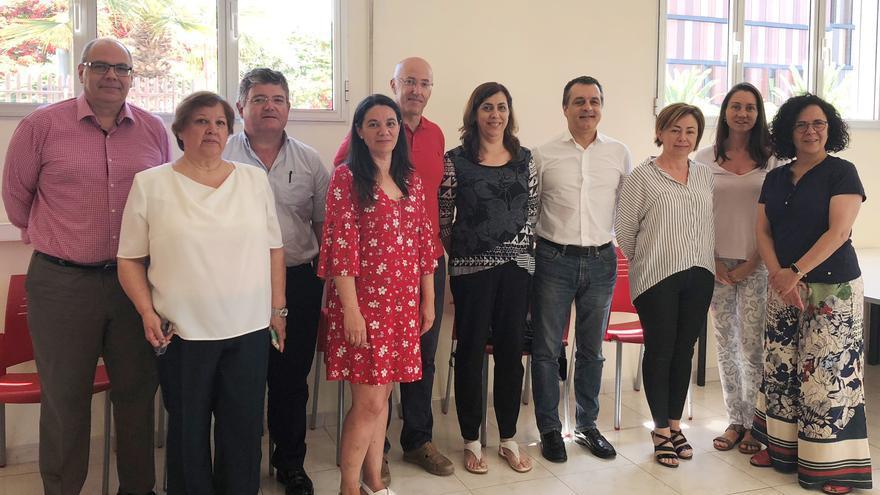 Asistentes a la primera cita de la comisión mixta de la Cátedra Fundación Cepsa