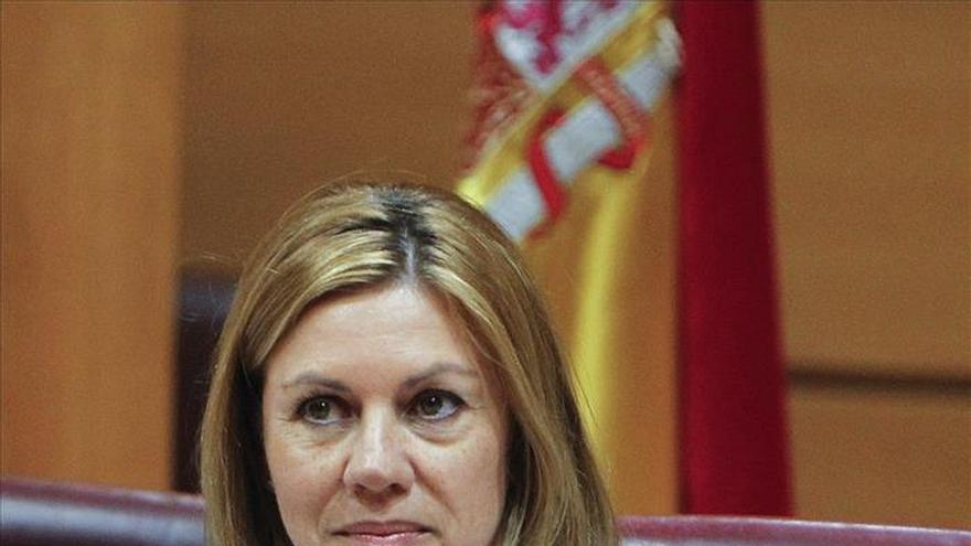 """Cospedal: """"O somos nosotros o a saber en manos de quiénes puede caer España"""""""