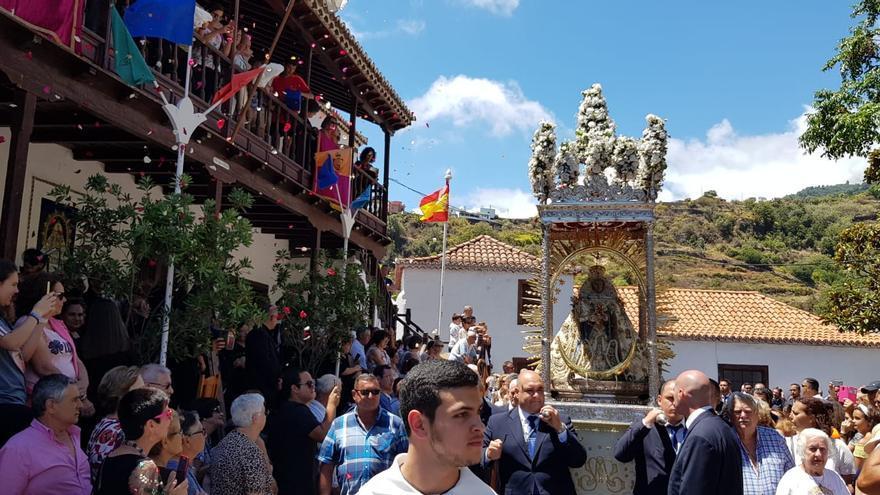 Procesión de la Virgen de Las Nieves.