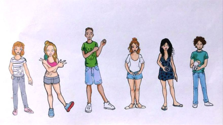 Dibujo de los integrantes del programa BCN - San Salvador