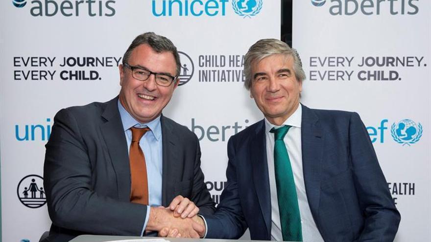 Abertis se alía con Unicef para reducir los daños a los niños en accidentes