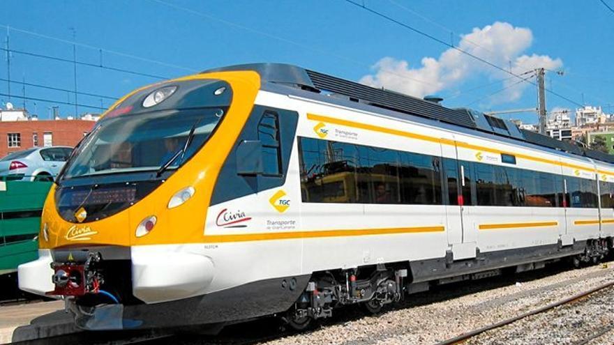 Recreación del tren que uniría Las Palmas de Gran Canaria con Maspalomas.