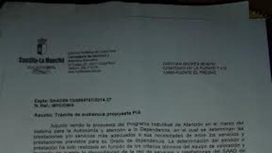 Documento Prevaricación ley dependencia Castilla-La Mancha