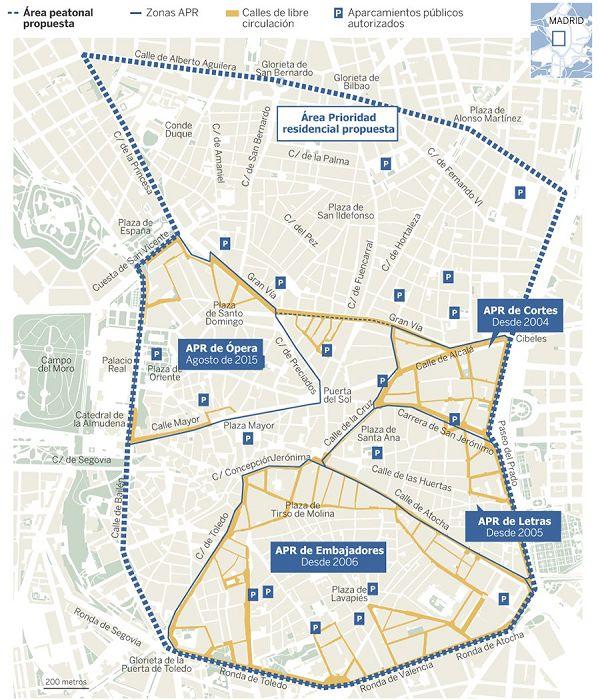Mapa del futuro APR de Centro