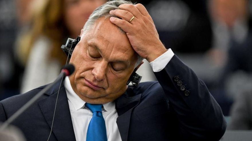 El primer ministro húngaro, Viktor Orban, en el pleno del Parlamento Europeo del 11 de septiembre de 2018.