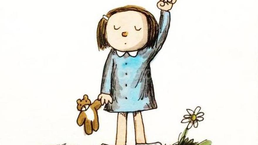 La famoso ilustrador argentino Liniers se sumó a la convocatoria a través de uno de sus emblemáticos personajes.