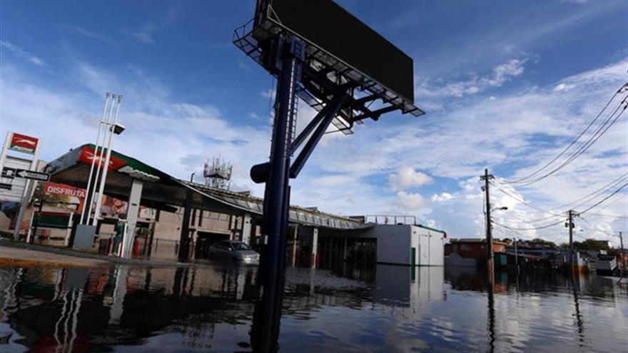 Imagen de las inundaciones del huracán María en Puerto Rico.