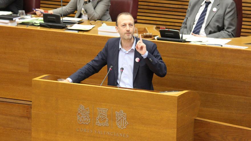 Alexís Marí, de Ciudadanos, en las Corts Valencianes.