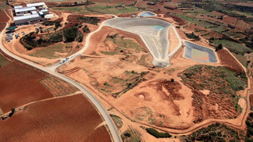El vertedero y la planta de tratamiento de Caudete, inaugurados en 2013.