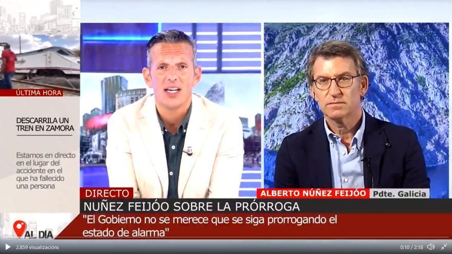 Entrevista con Alberto Núñez Feijóo en Cuatro